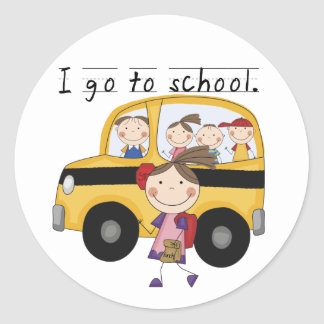 Girl I Go To  School T-shirts and Gifts Classic Round Sticker