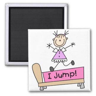 Girl I Jump Magnet Refrigerator Magnet