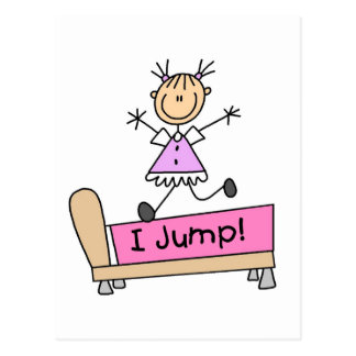 Girl - I Jump Tshirts and Gifts Postcard