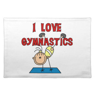 Girl I Love Gymnastics Cloth Placemat