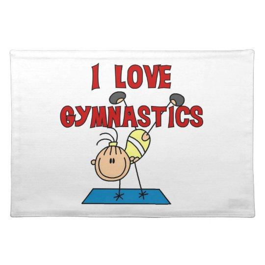 Girl I Love Gymnastics Cloth Placemat
