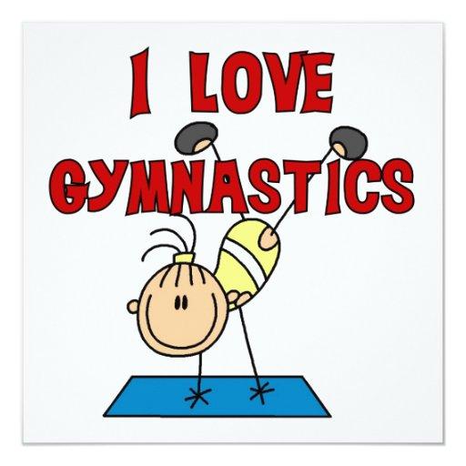 Girl I Love Gymnastics Invitation