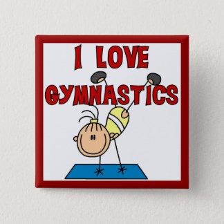 Girl I Love Gymnastics Pinback Button