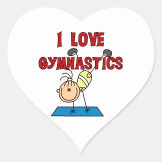 Girl I Love Gymnastics Heart Sticker