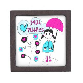 Girl I Love Mud Puddles Premium Jewelry Boxes