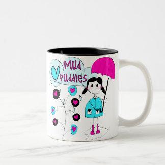 Girl I Love Mud Puddles Two-Tone Coffee Mug