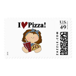Girl I Love Pizza Tshirts and Gifts Postage Stamps