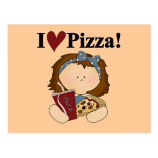 Girl I Love Pizza Tshirts and Gifts Postcard