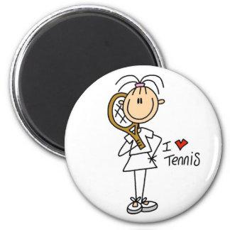 Girl I Love Tennis Magnet