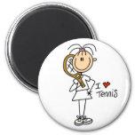 Girl I Love Tennis Magnet Refrigerator Magnet
