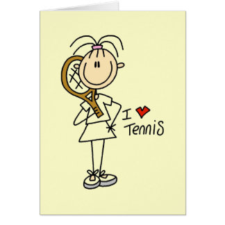 Girl I Love Tennis Tshirts and Gifts Greeting Card