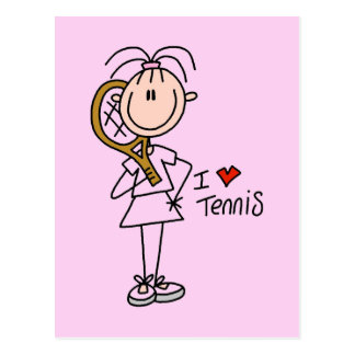 Girl I Love Tennis Tshirts and Gifts Post Cards
