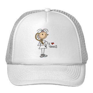 Girl I Love Tennis Tshirts and Gifts Trucker Hat