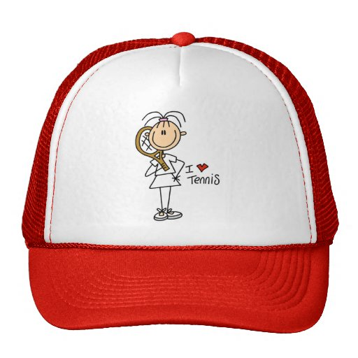 Girl I Love Tennis Tshirts and Gifts Trucker Hats