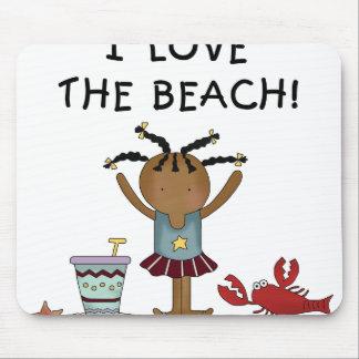 Girl I Love the Beach Mouse Pad