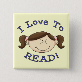 Girl I Love to Read Tshirts and Gifts Button