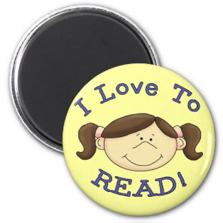 Girl I Love to Read Tshirts and Gifts Fridge Magnets