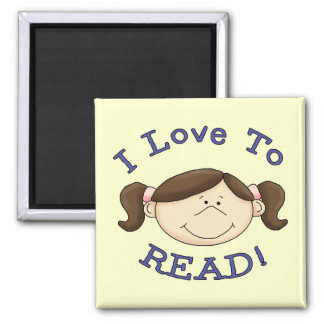 Girl I Love to Read Tshirts and Gifts Magnets