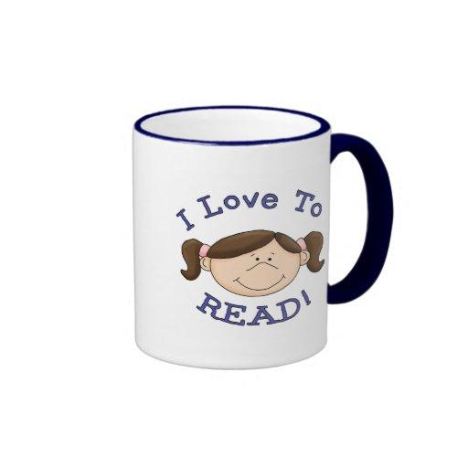 Girl I Love to Read Tshirts and Gifts Mug