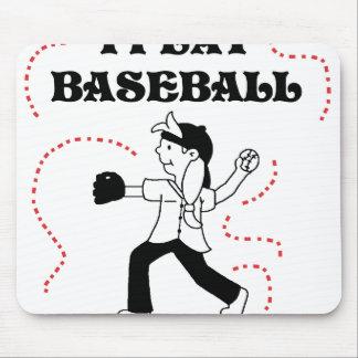 Girl I Play Baseball Mouse Pad