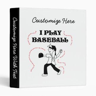 Girl I Play Baseball T shirts and Gifts 3 Ring Binder