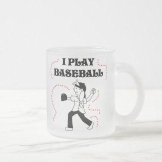 Girl I Play Baseball T shirts and Gifts Frosted Glass Coffee Mug