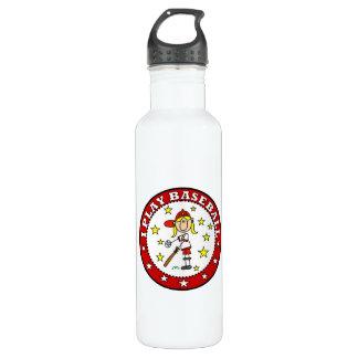 Girl I Play Baseball T shirts and 24oz Water Bottle