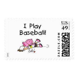 Girl I Play Baseball Tshirts and Gifts Postage