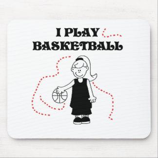 Girl I Play Basketball Mouse Pad
