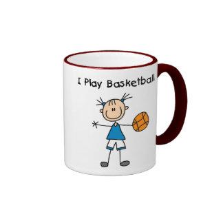 Girl I Play Basketball Ringer Mug