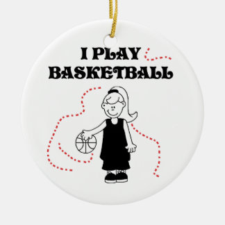 Girl I Play Basketball T-shirts and Gifts Ceramic Ornament
