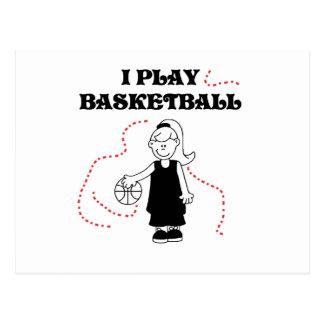Girl I Play Basketball T-shirts and Gifts Postcard