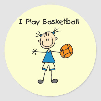 Girl I Play Basketball Tshirts and Gifts Classic Round Sticker