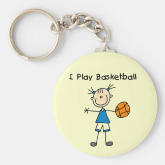 Girl I Play Basketball Tshirts and Gifts Keychain