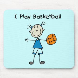 Girl I Play Basketball Tshirts and Gifts Mouse Pad