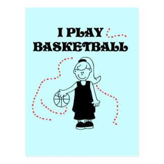 Girl I Play Basketball Tshirts and Gifts Postcard