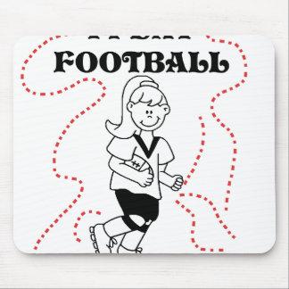 Girl I Play Football Mouse Pad