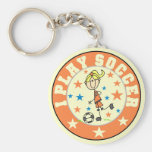 Girl I Play Soccer T-shirts and Gifts Key Chains