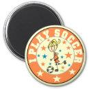 Girl I Play Soccer Magnet