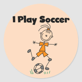 Girl I Play Soccer Tshirts and Gifts Classic Round Sticker