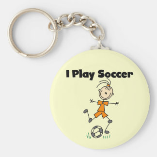 Girl I Play Soccer Tshirts and Gifts Keychain