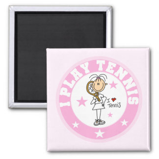 Girl I Play Tennis Tshirts and gifts 2 Inch Square Magnet