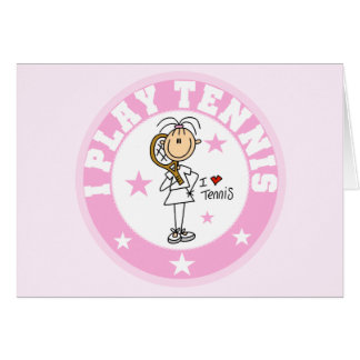 Girl I Play Tennis Tshirts and gifts Card