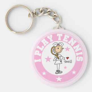 Girl I Play Tennis Tshirts and gifts Keychain