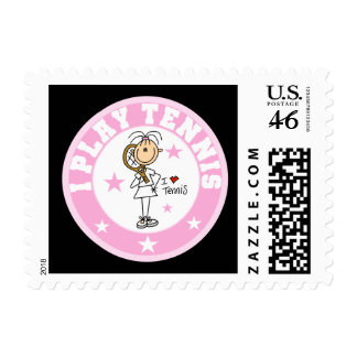 Girl I Play Tennis Tshirts and gifts Postage Stamps