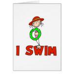 Girl I Swim Card