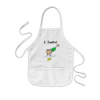 Girl I Swim T-shirts and Gifts Kids' Apron