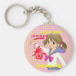 Girl ICHIBAN of the high school of Japan MANGA Key Chain