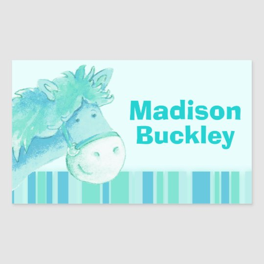Girl id full name aqua pony horse sticker