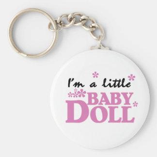 Girl I'm a Baby Doll Basic Round Button Keychain